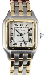 Cartier PRICE REDUCED! CARTIER Panthere 18k Yellow Gold & Stainless Steel Quartz Watch in Mint Condition