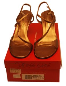 Ellen Tracy Formal Size 7.5m Metallic Bronz Sandals