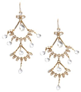 Juicy Couture Deco Double Fan Chandelier Earrings