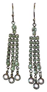 Claire's Chandelier Dangle Earrings - Clear white crystal