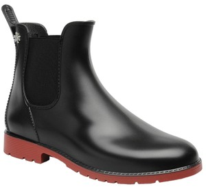 Meduse Rubber Rain Black/Red Boots