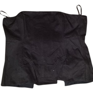All Saints Black Bustier Halter Top