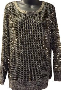 Kenneth Cole Rayon Polyester Top Metallic