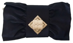 BCBGMAXAZRIA Satin Evening Black Clutch