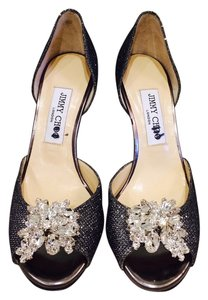 Jimmy Choo Grey Metallic Formal