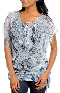 Other Snakeskin Beading Ties Tunic