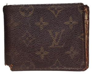 Louis Vuitton Louis Vuitton #3338 Monogram bifold square wallet Credit Card Business Card ID pass Flap Case Wallet Holder