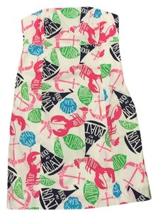 Lilly Pulitzer short dress Clyde Strapless Print on Tradesy