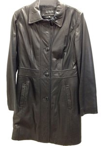 Jones New York Leather Amazing Condition Trench Coat