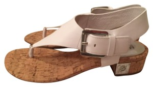 Michael Kros White leather Sandals