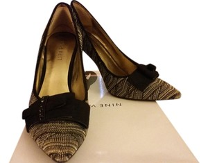Nine West black and grey Pumps