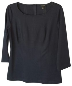 Ann Taylor Fitted Winterweight Top Navy