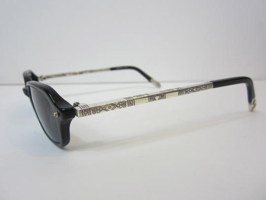 Brighton Brighton Handmade Black and Silver Sunglasses Engraved Detail on Legs
