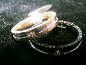 Silve/Gold/Black Bogo 2pc Couples Matching Promise Ring Set Free Shipping Men's Wedding Band