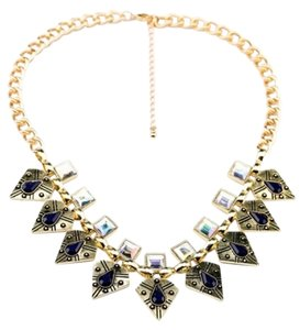 Other Must have Embossed Leaf Bib Necklace