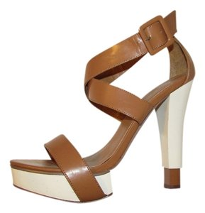 Charlotte Russe Brown and White Sandals