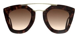 bc6e2a7fe3 store prada cinema sunglasses spr 12q tortoise gold 4f756 b34c2  canada prada  prada cinema cat eye double bridge sunglasses black light grey shaded 48927  ...