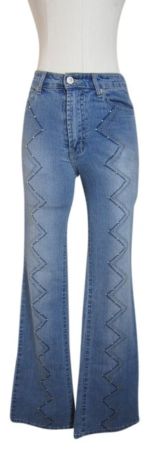 Frank Patrick Boot Cut Jeans-Light Wash
