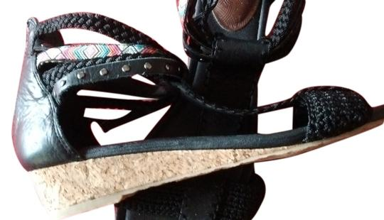 The Sak Leather Studded Multi Colored Sandals