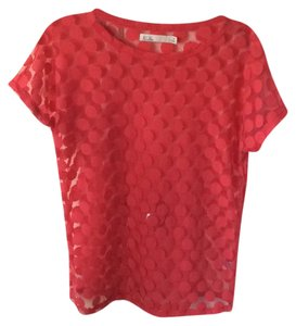 Madewell Sheer Top Red