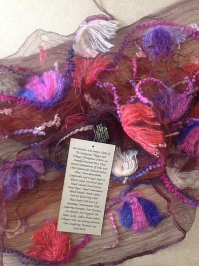 Other NWT Handmade Natural dyed organic silk scarf