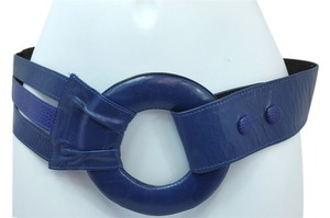 Other HARMAREYA STYLE BLUE LEATHER WIDE BELT++ LENGTH 30