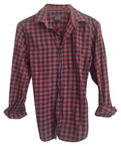 Buffalo David Bitton Button Down Shirt Buffalo check red & charcoal