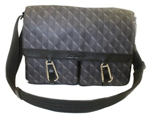 S.T. Dupont Grey black Messenger Bag