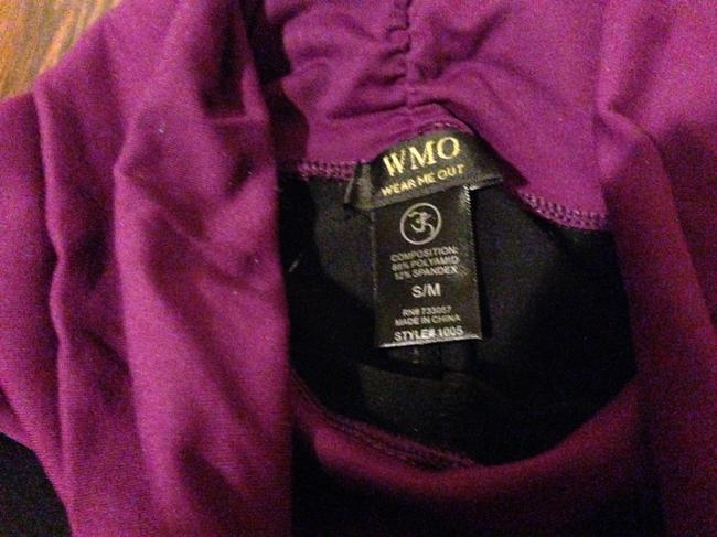 Wear Me Out Yoga Pilates Grape Cardio Comfort Athletic Pants Black