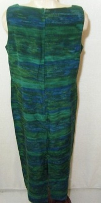 Sea Blue & Green Maxi Dress by Maggy London