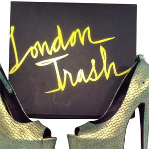 London Trash Turquoise And Gold Platforms