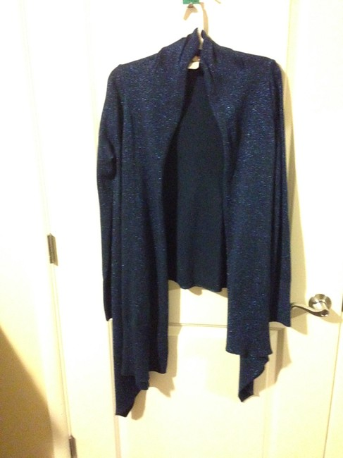 Tricot Joli Metallic Drape Sweater Comfortable Cardigan