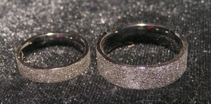 2pc Black Frost Matching Wedding Bands Free Shipping