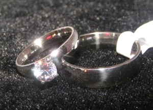 Valentine's Day Sale 2pc Matching Wedding Ring Set Free Shipping