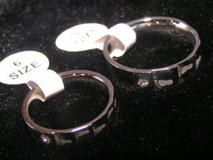 Matching Footprints Wedding Bands Free Shipping