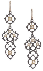 Alexis Bittar Alexis Bittar Muse D'Ore Crystal Duo-Tone Lac Drop Earrings New