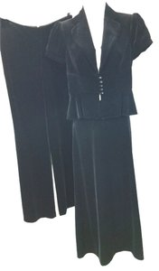 Ann Taylor LOFT ANN TAYLOR 3-PC. BLACK VELVET COCKTAIL PANT SKIRT SUIT 2