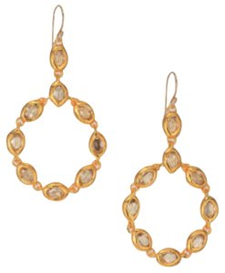 Alexis Bittar Alexis Bittar Gold Elements Moonlight Crystal Circle Drop Earrings