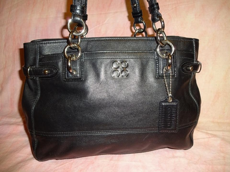 Coach ~ Stunning Rare Colette Multi-pocket Tote  16460 Black Leather ... 469aec9b03577