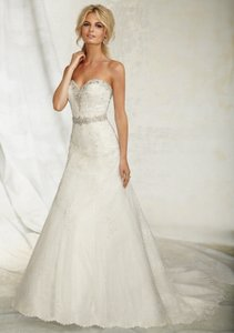 Mori Lee Ivory/Silver 1254 Dress