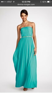 Donna Morgan Blue Green Or Spearmint Bridesmaid/Mob Dress Size 4 (S)