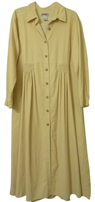 Preload https://item5.tradesy.com/images/kim-rogers-pale-yellow-cordary-mid-length-workoffice-dress-size-12-l-765439-0-0.jpg?width=400&height=650