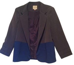 Silence + Noise Color-blocking Boyfriend Grey and Blue Blazer