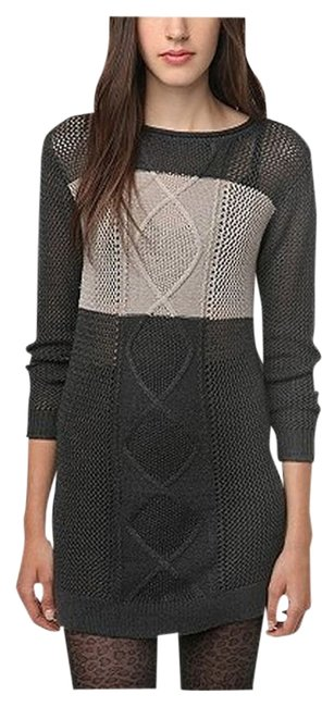 Item - Urban Outfitters Colorblock Tunic Gray & Black Sweater