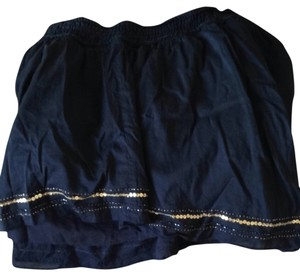 American Eagle Outfitters Skirt Navy with Silver Sequences