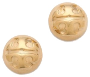Tory Burch Tory Burch Gold Dommed Stud Earrings