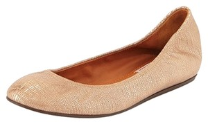 Lanvin Metallic Beige and Bronze Flats