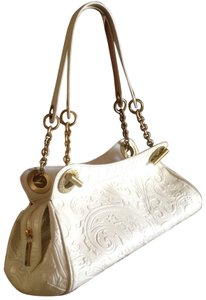 Etro Paisley Embossed Leather Matte Gold Hardware Inside In Excellent Condition Exterior Shows Signs Of Usage Shoulder Bag