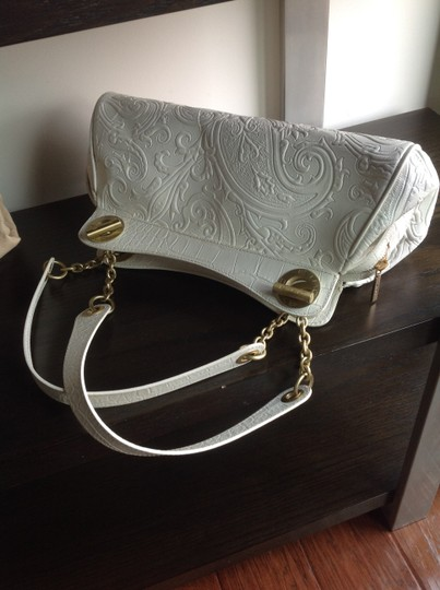Etro Paisley Embossed Leather Matte Gold Hardware Inside In Excellent Condition Exterior Shows Signs Shoulder Bag