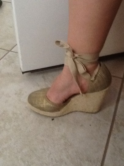 Nine West Gold Wedges